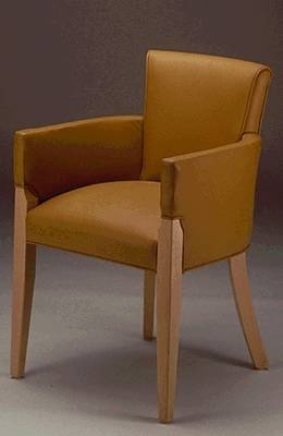Knick. upholstered pull up chair
